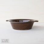 [古谷 浩一]グラタン皿(飴釉)