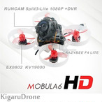 Happymodel Mobula6 HD 1S 65mm Brushless Whoop Runcam Split3-lite(2種類)Frsky / Futaba