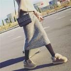 ハイウエストニットタイトスカート161