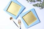 先着15個限定予約販売開始!高級抜群の美濃焼きゴールド×ブルーお皿