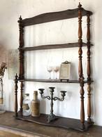 木製 4段シェルフ 壁付棚