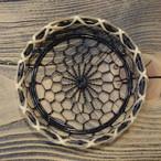 辻和金網 手編み銅製コースター(黒メッキタイプ)