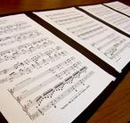 楽譜台紙4枚用