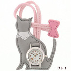 【HANG WATCH】ネコ(グレイ)【時計 猫柄 ネコ柄 シルエット】