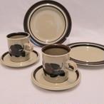 ペアセット ARABIA/アラビア ルイヤ ケーキ皿とカップ&ソーサー 1910AR-RJB