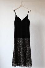 【eicayoshinari】embroidery lace cami dress