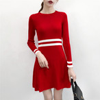 【dress】気質あふれ伸縮性いい美しいラインワンピース 23139652