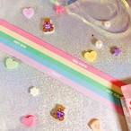 オリジナルデザイングログランリボン Simple Rainbow 38mm