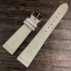 FLUCO ヴィンテージスタイル Suede スエード ストラップ  ベージュ 20m 腕時計ベルト