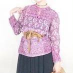 60-70s Indian cotton dress【290】