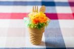 【母の日フラワーギフト・プレゼント】アイスクリームプリザ(イエロープリザーブドフラワー)
