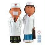 医者と看護婦の鉛筆削りソフビフィギュア