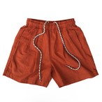 LINEN 2TAC BAGGIES SHORTS / ORANGE