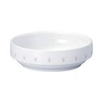 【1714-1060】強化磁器 14.5cm すくいやすい食器 花の冠(ピンク)