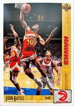 NBAカード 91-92UPPERDECK John Battle #388 HAWKS