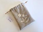 ironna happa  小さな巾着 菫と小花