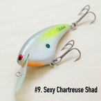 "BRISKY LURES  /  "" Natalie "" / #9. Sexy Chartreuse Shad"