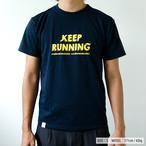 """KEEP RUNNING"" Tee(ドライ コットン)"