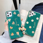 【オーダー商品】Green gold heart  iphone case