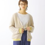 420005_Combination Mohair Cardigan(イエロー)