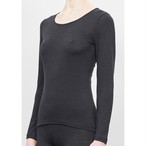 【ABOUT】woman long sleeve shirt-black