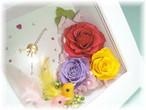 「花と小鳥の時計」