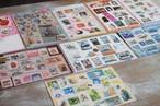 限定:切手のコラージュカード9枚のセット
