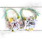 【Izuchi】つまみ細工の紫陽花ヘアゴム/ヘアゴム