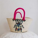 beetle embroidered basket