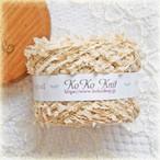 §koko§ natural life木々のお茶会 1玉30g以上 フラッグ ラメ 毛糸 引き揃え糸