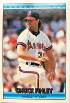 MLBカード 92DONRUSS Chuck Finley #255 ANGELS