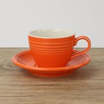 【SL-0008】 磁器 コーヒーソーサー オレンジ