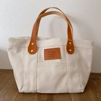 White tote bag S - Camel Leather