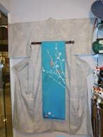 結城紬単衣着物 Yuki silk and pongee Kimono