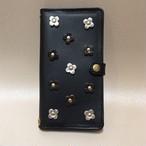 【アウトレット】フラワーレザーiphone6用ケース(ブラック) 1点