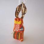 和紙張子「鹿踊(ししおどり)」橙