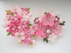桜のコームかんざしセット