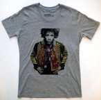 Jimi Hendrix Tシャツ(ミリタリージャケット・グレー L)