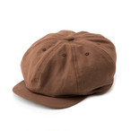 "Just Right ""Sports-Newsboy Cap Cotton/Linen"" Brown"
