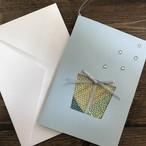 さをり織り一点物グリーティングカード【神奈川なでしこブランド認定商品】