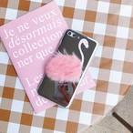 ピンク フラミンゴ ファー ミラー iPhone シェルカバーケース 可愛い 個性的 アニマル 便利 女子 キュート ★ iPhone 6 / 6s / 6Plus / 6sPlus / 7 / 7Plus / 8 / 8Plus ★ [MD067]