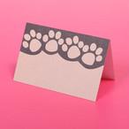 【アメリカ直輸入品】【10枚セット】肉球二つ折りミニギフトカード