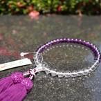 紫水晶&水晶グラデーション(アメジスト・Amethyst&Crystal)