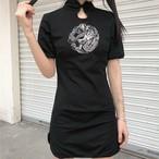 【dress】レトロ刺繍人気カジュアルワンピース21294799