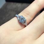 モアサナイト ダイヤモンド 1カラット リング 指輪