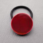 飛騨春慶塗 ヘアゴム 丸形 紅 (H012)