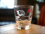 るんるんビーグル彫刻グラス(ハート&クローバー)