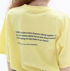 「STD1」Tシャツ(ライトイエロー)