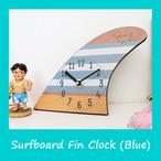 【再入荷】サーフボード フィン 置時計(ブルー)