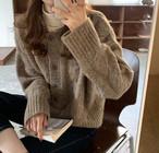3色 ニットカーディガン アウター 羽織 ゆったり 大人可愛い シンプル カジュアル 韓国 オルチャン ファッション